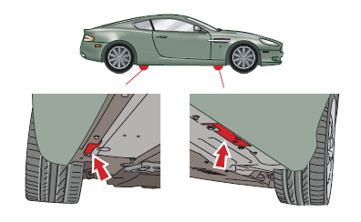 DB9 Jacking Points
