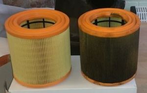 Old and New Aston Martin DB9 Air Filters
