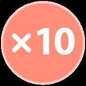 10 times