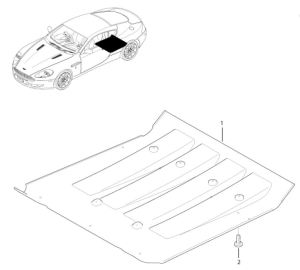Aston Martin DB9 Rear Under Tray Parts Diagram