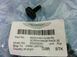 aston-martin-db9-undertray-screw-part-number-6g33-fao115-ab