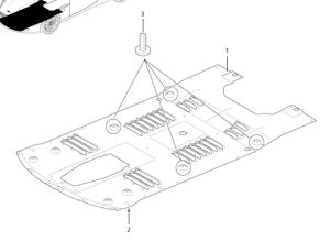Aston Martin Front Under Tray Parts Diagram