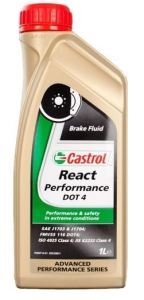 Castrol React Performance DOT4 Brake Fluid Bottle