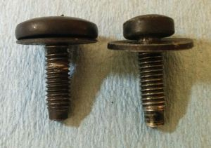 Front Under Tray Bolts - Two Different Sizes