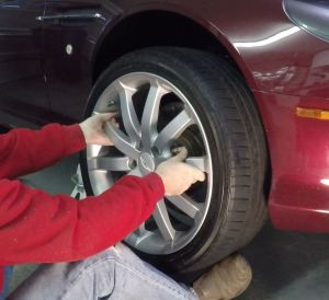Installing the Road Wheel on an Aston Martin DB9