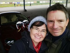 Karen and Steve at AMOC Track Day 2014