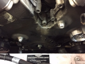 Aston Martin DB9 Front Timing Cover Oil Leak- Before Repair