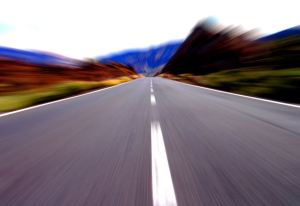 Straight Stretch of Open Road