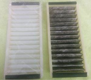 Clean and Dirty Aston Martin DB9 Cabin Air Filters
