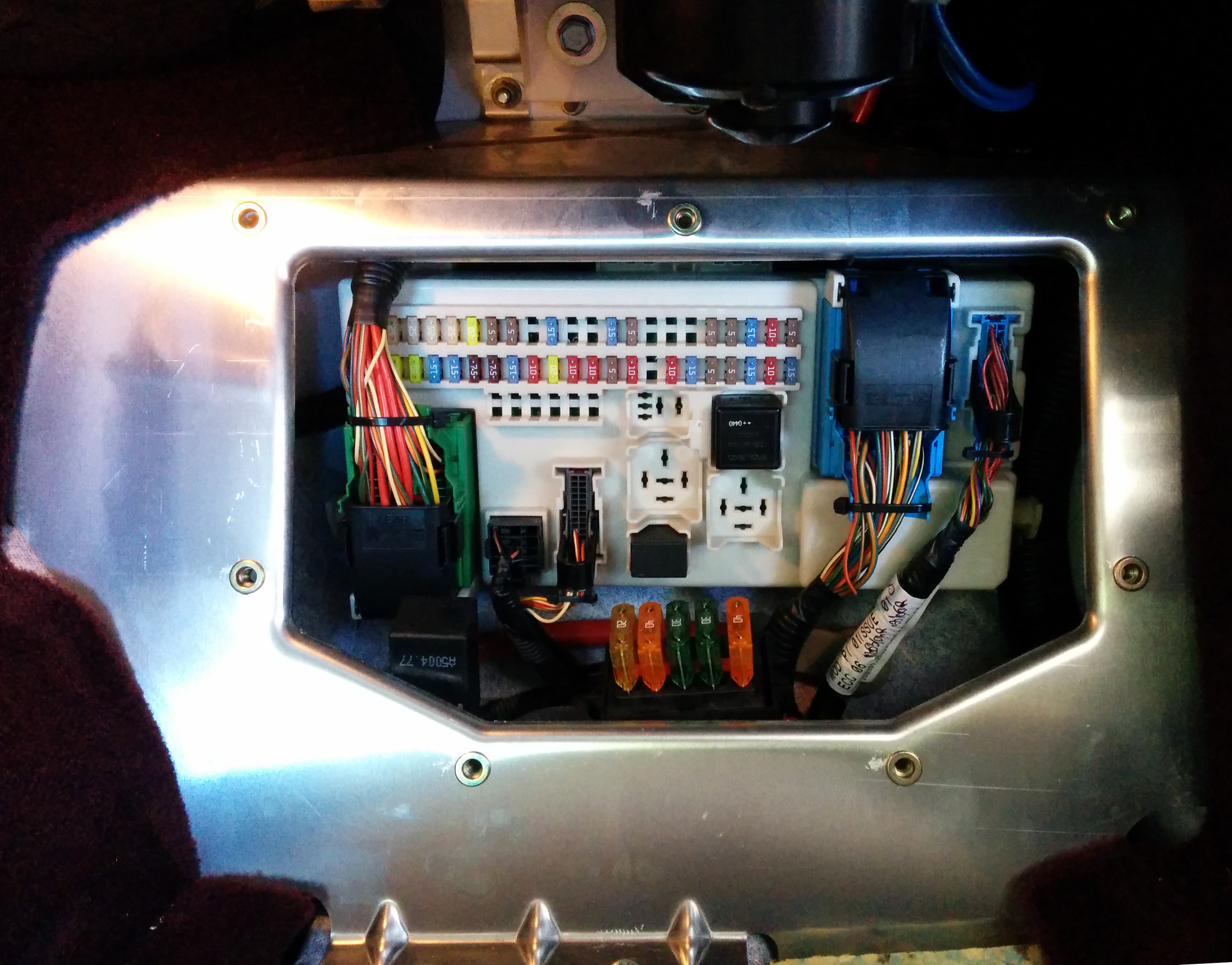 Accessing the cabin fuse box on an aston martin db