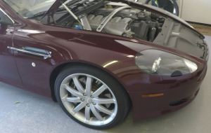 Aston Martin DB9 Right Front Fender and hood open