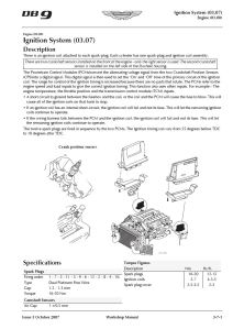 Aston Martin DB9 Workshop Manual Ignition System Section