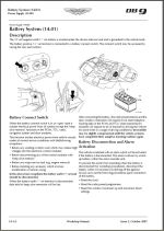 Battery System Section 14.01 in Aston Martin DB9 Workshop Manual Cover