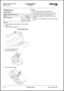 aston-martin-db9-workshop-manual-section-on-removing-the-spark-plugs