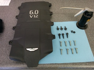 preparing-the-intake-manifild-brace-for-installation-on-an-aston-martin-db9