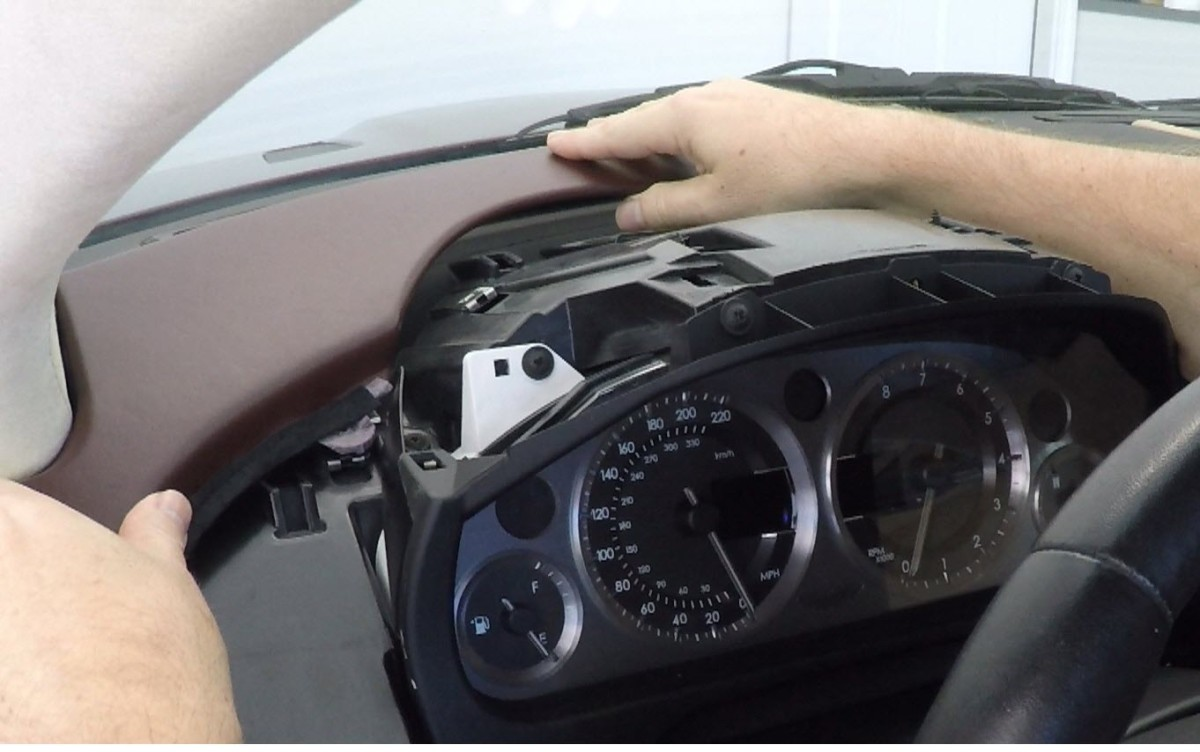 Installing The Driver Side Instrument Dash Panels In An