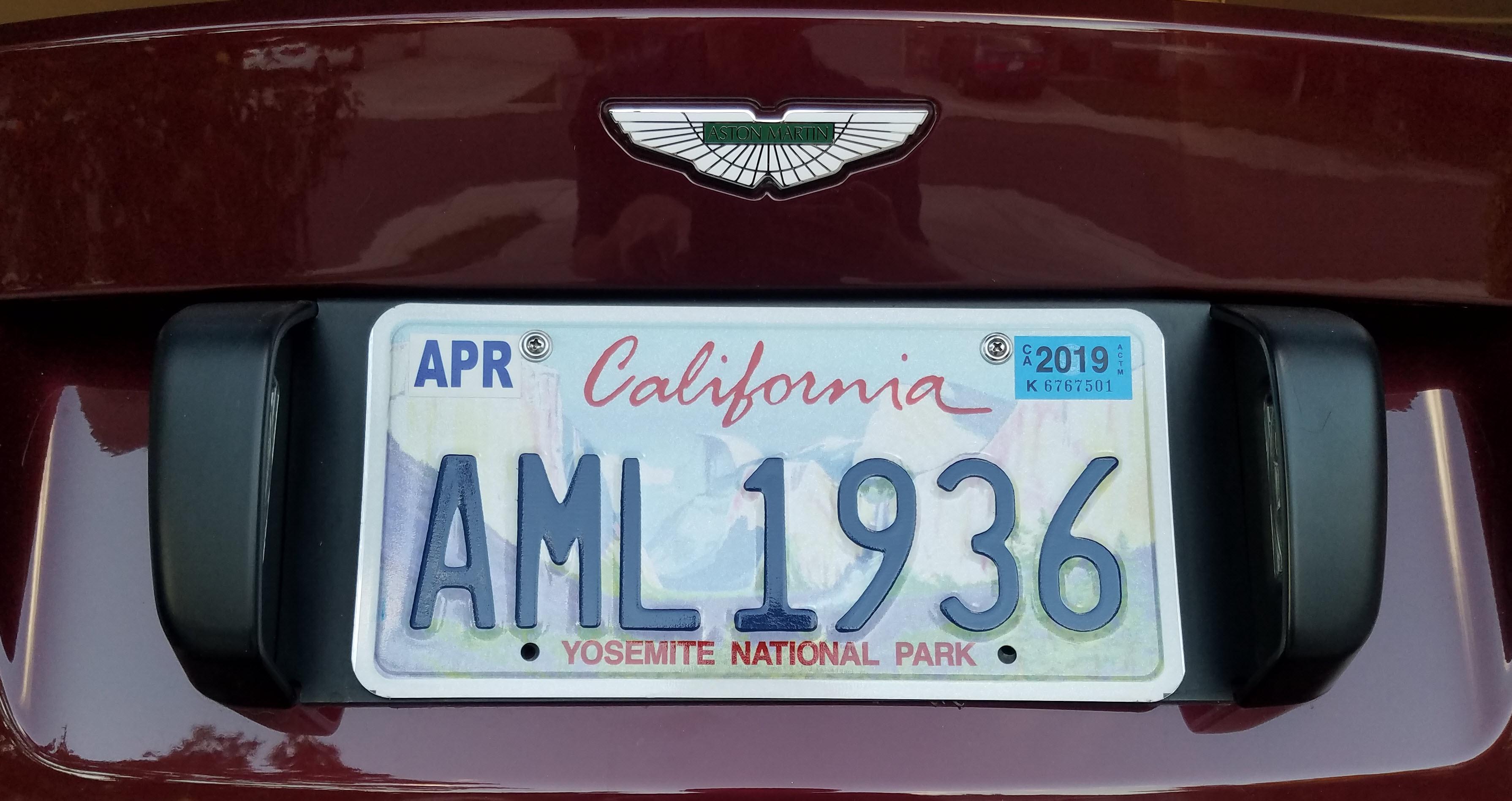 Personalized Plate Aml 1936 Aston 1936